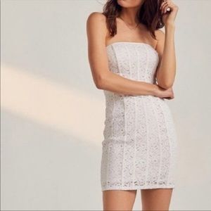 Urban Outfitters Lace Bodycon White Dress